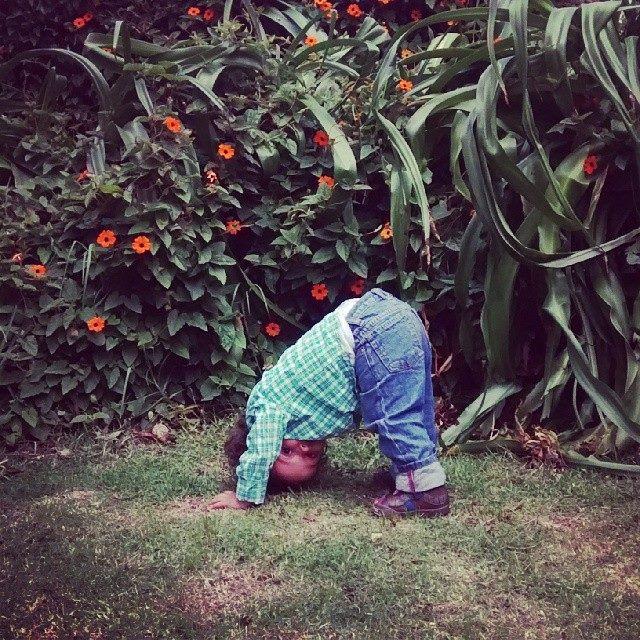 Miercoles Mudo, Sammy practicanto Yoga