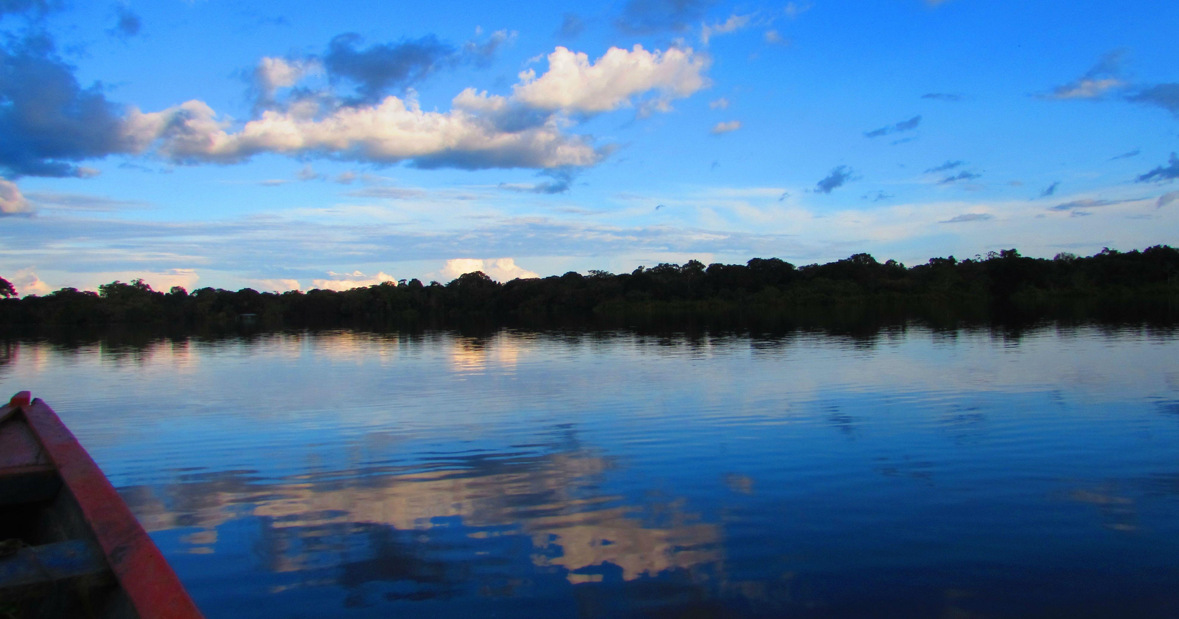 Atardecer en el Amazonas blog
