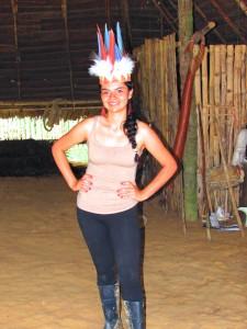 En una maloca en Amazonas