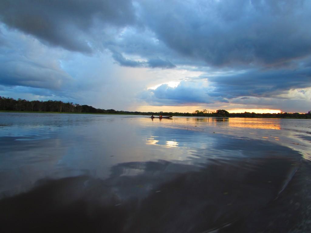 Vista en nuestro primer día en Amazonas