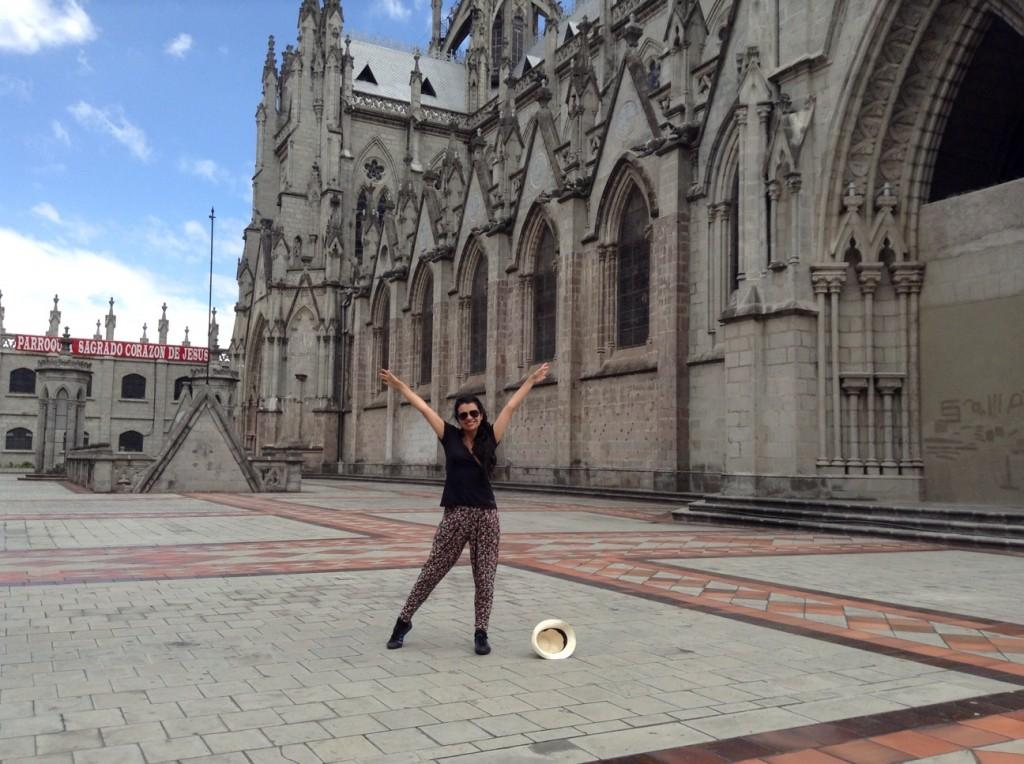 En la Basilica en Quito Ecuador