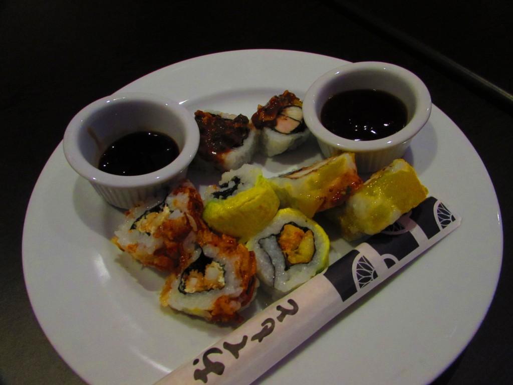 Sushi unicamente preparado unicamente con ingredientes de la región