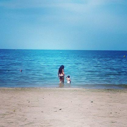 En las playas Taganga