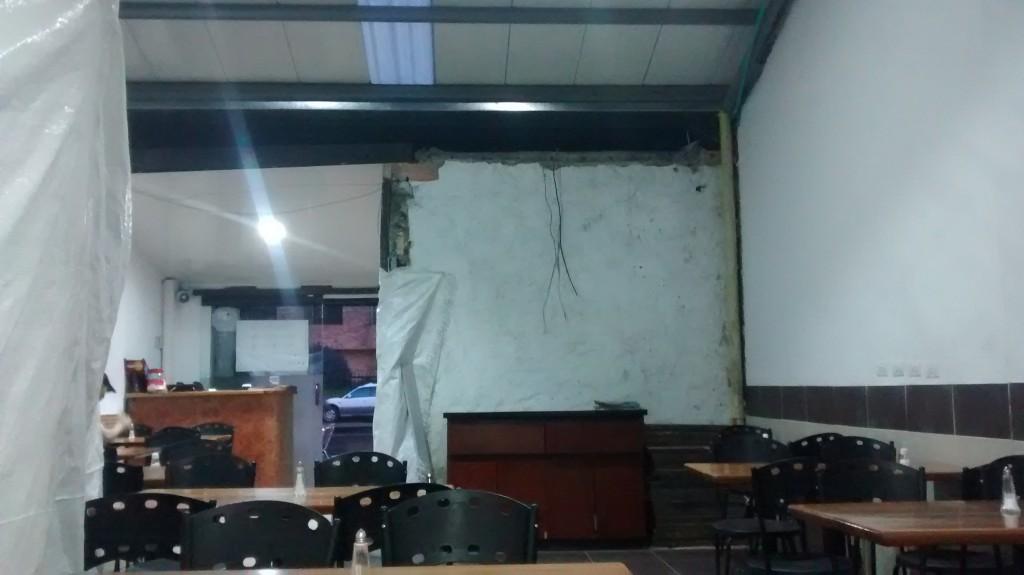 El restaurante esta en remodelación