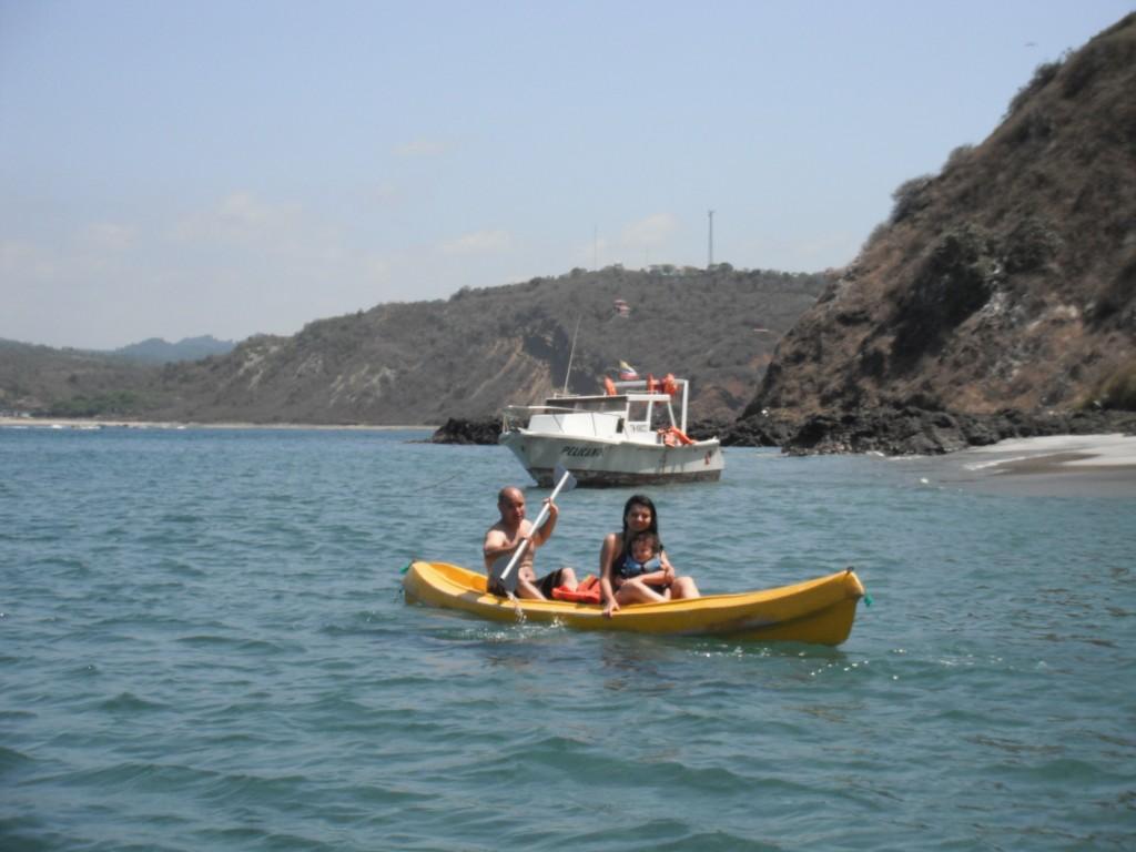 Kayak en el Pacifico
