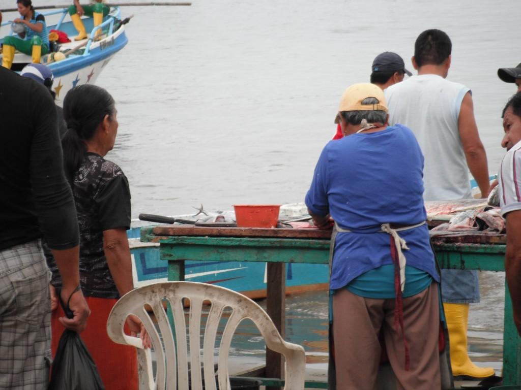 Pescadores en Puerto Lopez