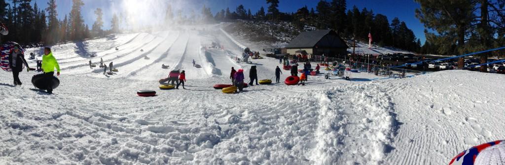 Panoramica del lugar donde jugamos en la nieve después de Navidad