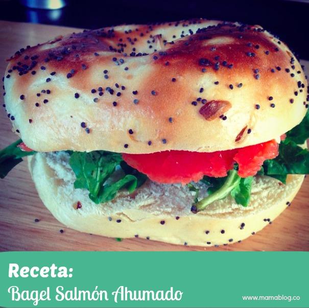 receta Bagel Salmon Ahumado