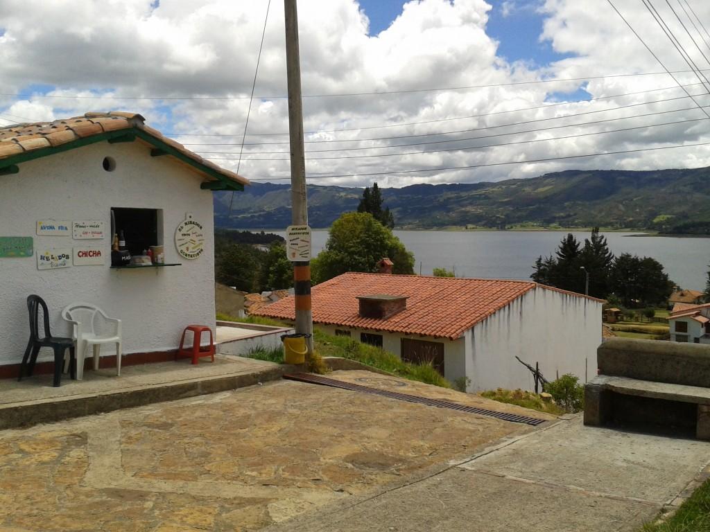 Vista de la ventana de Angelita  en Guatavita