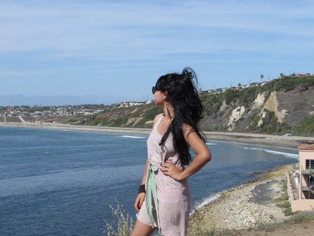 Contemplando la Bahia de Santa Monica