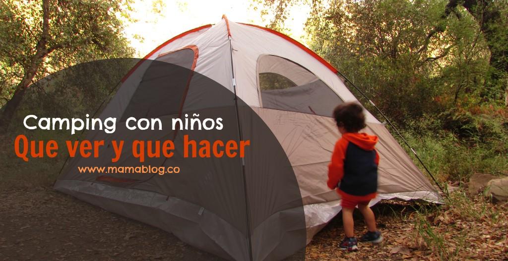 Camping con niños que hacer