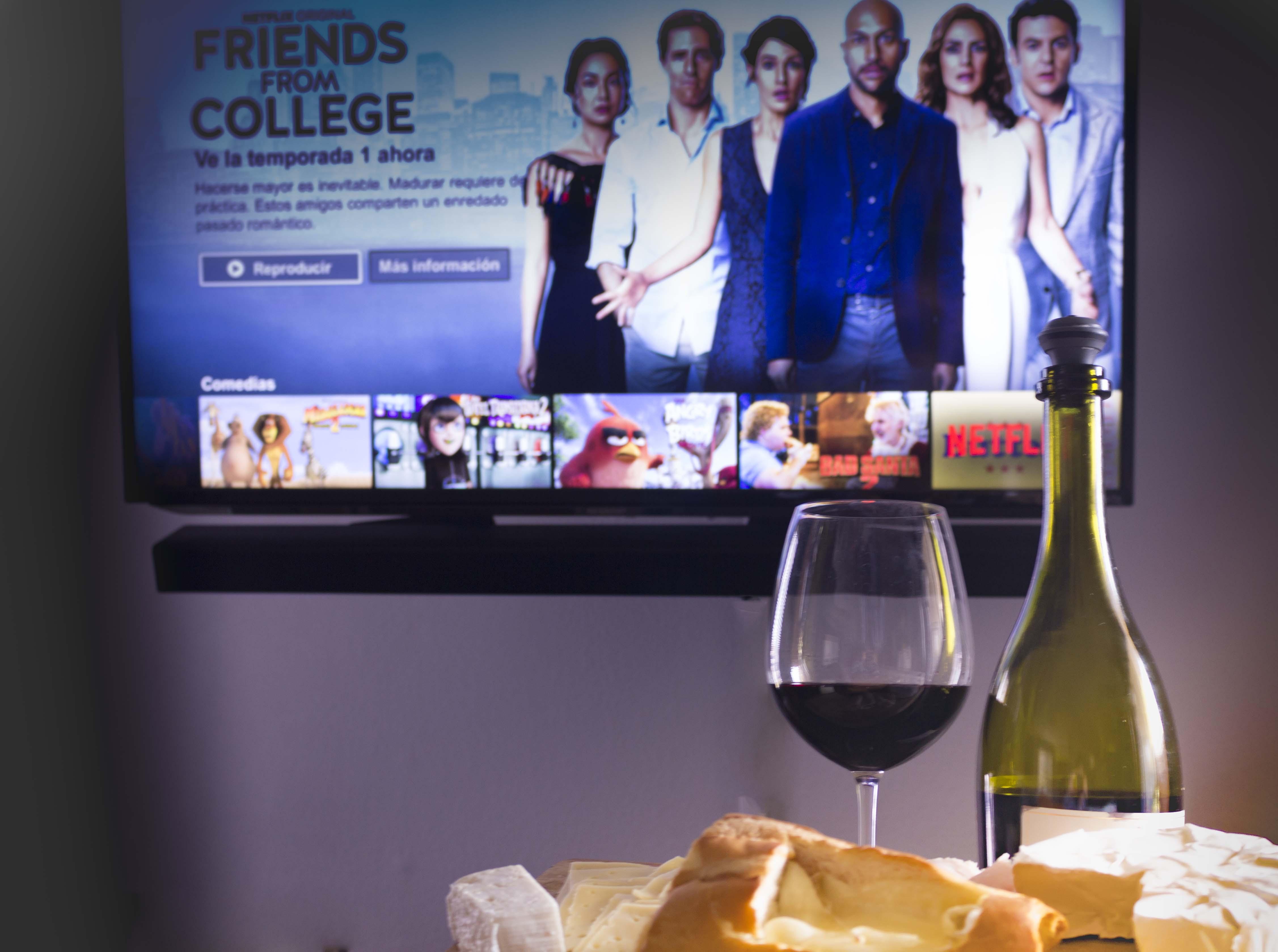 Tiempo para mi, queso, vino y Netflix